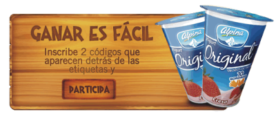 Códigos de Yogurt Alpina