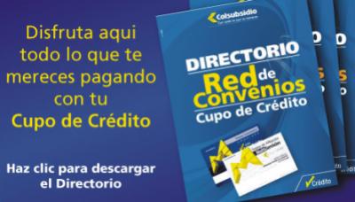 Catálogo de Red de Convenios de Colsubsidio.